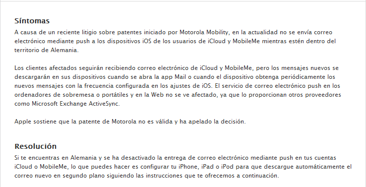 Comunicado icloud