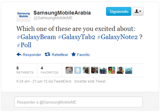 Tweet Galaxy note 2