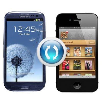 Sincronización entre iPhone y Samsung Galaxy