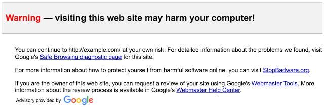 gmail alerta enlace peligroso