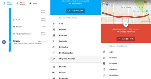 Google Maps permite recordar lugares donde capturamos Pokémon