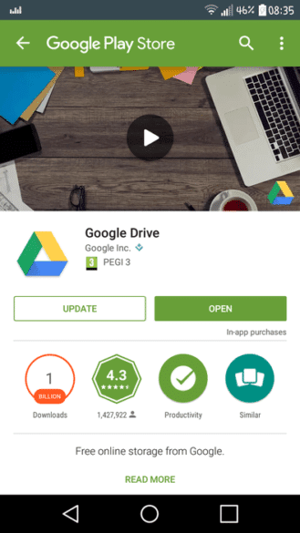 play store banner verde