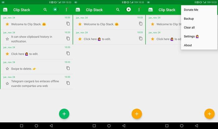 Mejora la gestión del portapapeles Android con Clip Stack