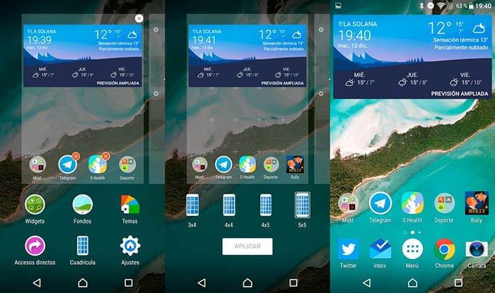 Nueva beta del launcher Xperia Home con rejilla personalizable