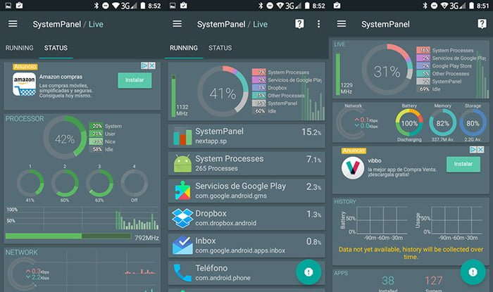 Systempanel 2 android