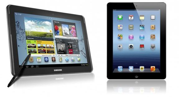 Samsung Galaxy_Note_10.1_vs_Apple_iPad_3