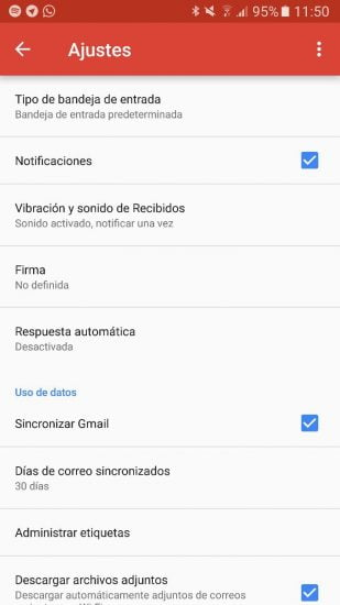 activar notificaciones gmail
