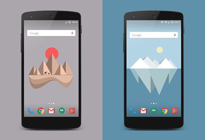 fondos de pantalla Material Islands para android