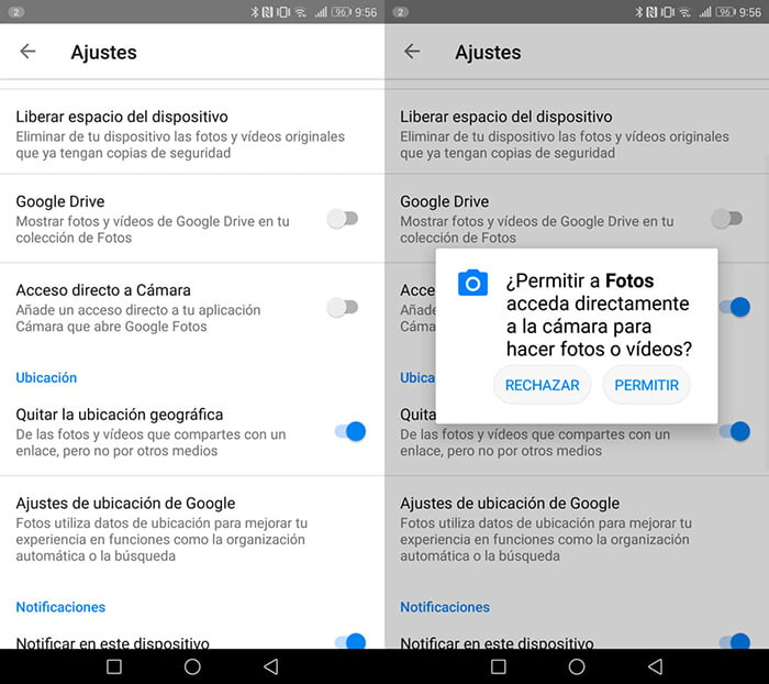 Cómo agregar a la app de cámara un acceso a Google Fotos