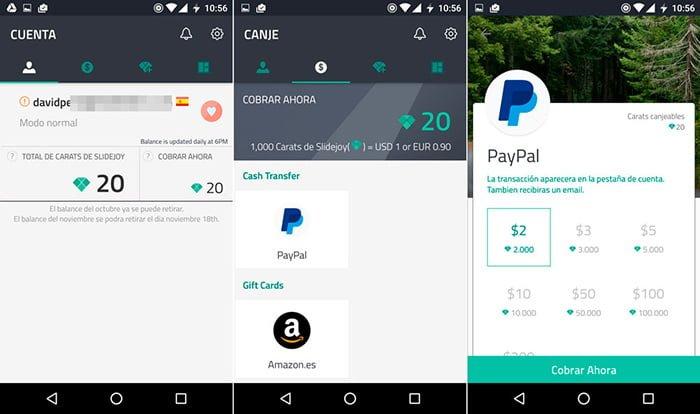 Cómo ganar dinero con Slidejoy para Android.