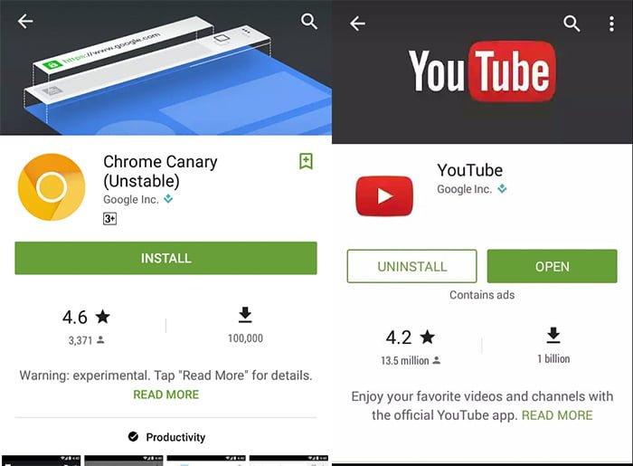 novedades interfaz google play