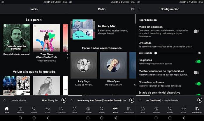 nueva interfaz spotify bottom bar