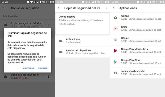Cómo gestionar las copias de seguridad de Android en Google Drive