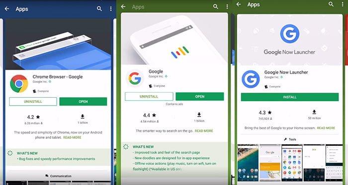 Nuevas tarjetas para apps en Google Play Store
