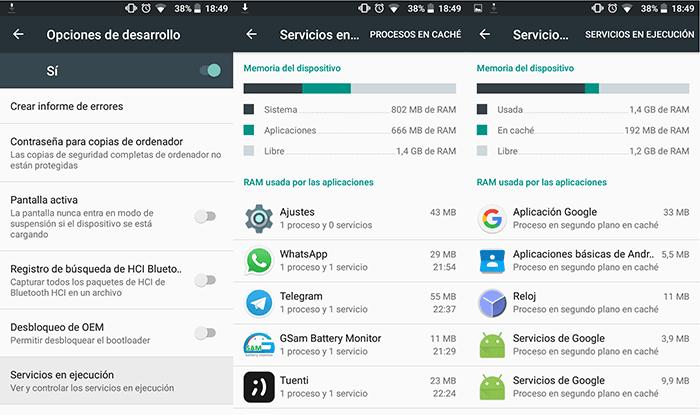 Cómo ver el consumo de memoria RAM en Android