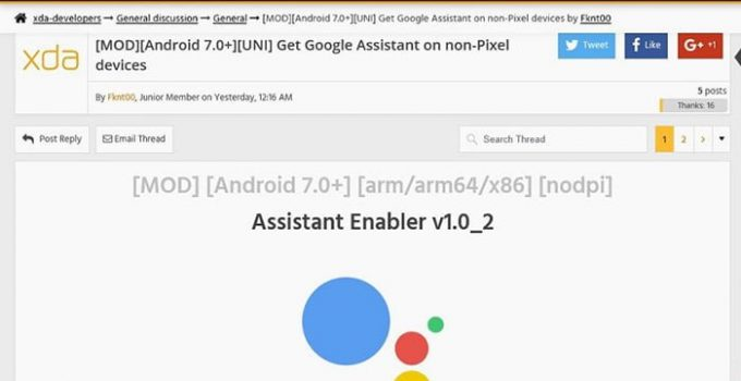xda google assistant enabler