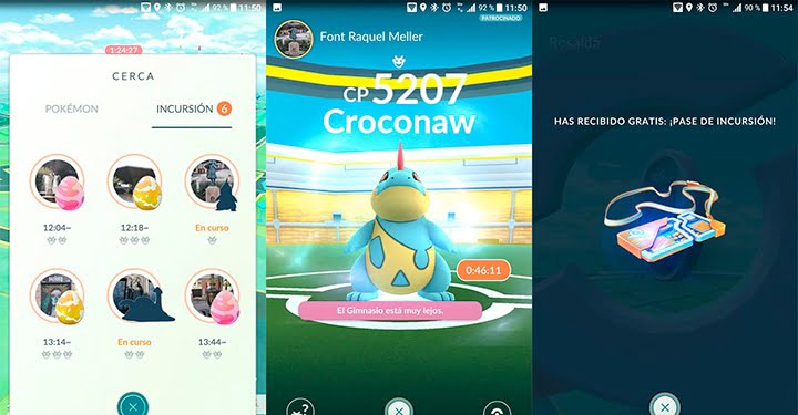 Criaturas disponibles en las incursiones de Pokémon Go