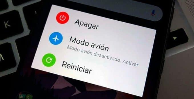 menu apagado android