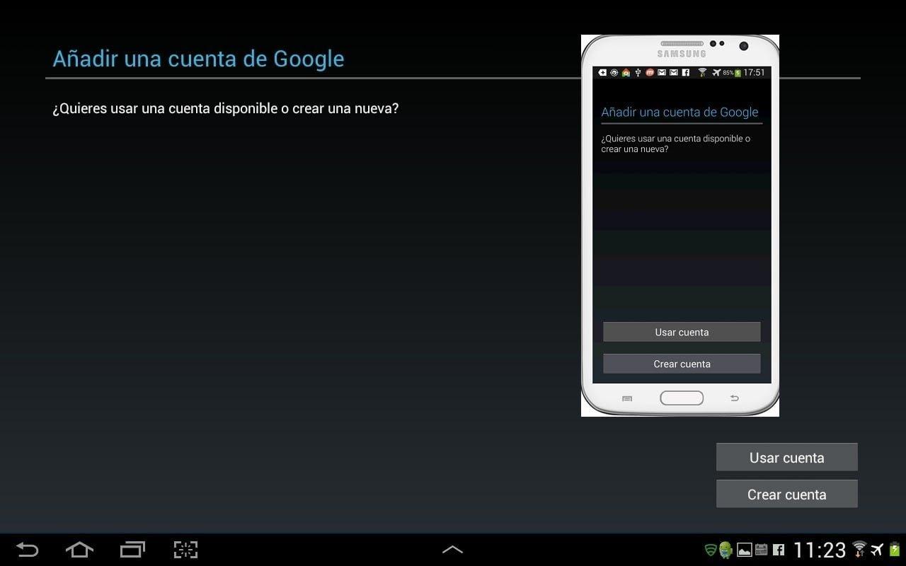 crear una Cuenta Google para usar Play Store