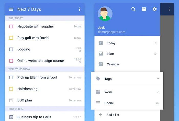 ticktick lista tareas android