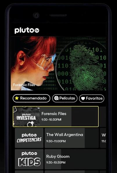 canales de tv y películas en Android con Pluto TV