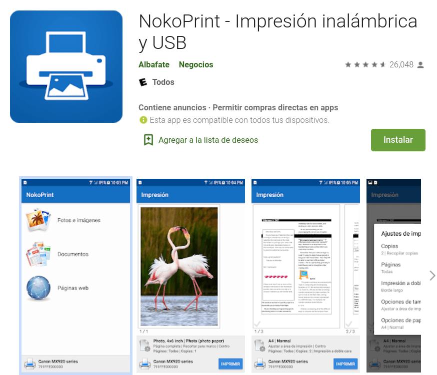 Cómo imprimir desde celular android gratis