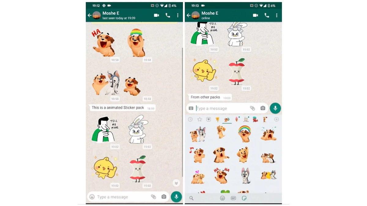 Las nuevas pegatinas animadas en WhatsApp