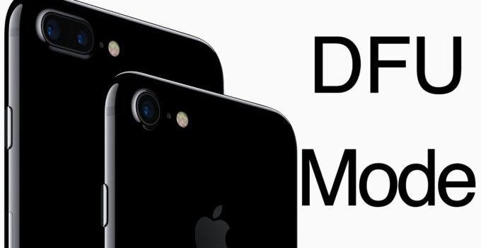 ¿Cómo entrar en el modo DFU en iPhone?